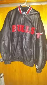 vintage 90 s chicago bulls leather starter jacket xl