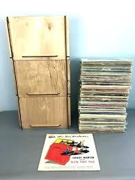 vinyl record crate plans storage milk ideas en wooden crosley rustic