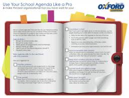 Checklist: Use Your School Agenda Like A Pro | Oxford Learning