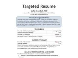 targeted resume sample how write a targeted resume example achievable picture target