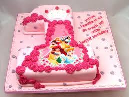 Princess 1st Birthday Cake Disney Princess 1st Birthday Cakes