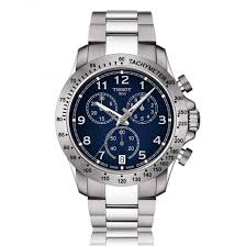 men s tissot v8 chronograph blue dial bracelet watch tissot men s v8 chronograph blue dial bracelet watch