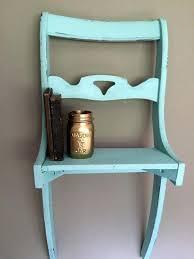 chair shelf shabby chic chair shelf by on bookshelf chair diy