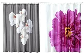 purple fabric shower curtain liner smlf and