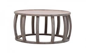 ellis round drum coffee table burnt rustic white oz design household round drum coffee table 11