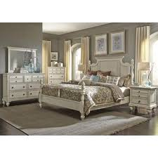 Liberty Furniture High Country 4 Piece Poster Bedroom Set In White    697 BR01