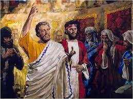 Pedro y Juan imponen las manos Espíritu Santo