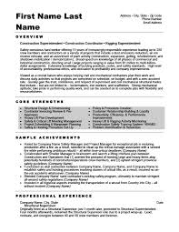 Structural Supervisor Resume Template Premium Resume Samples Example