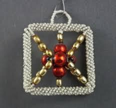 Details Zu Alter Christbaumschmuck Gablonzer Jugendstil Ornament Um 1920 7125