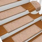 <b>Stair Mats 15</b> pcs Needle Punch 65x25 cm Brown Sale, Price ...