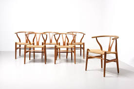 Wishbone Dining Chairs By Hans J Wegner For Carl Hansen Son S Set Of ...