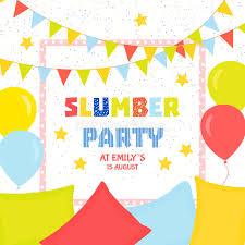 sleepover template slumber party poster stock illustration illustration of friendship