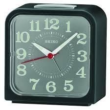 black bell alarm clock with snooze light qhk048s