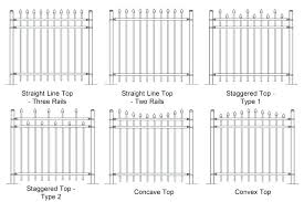 picket fence drawing. Picket Fence Drawing Six Plan Drawings Of Steel  Fencing Patterns . C