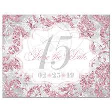 Winter Sparkles Quinceañera Save The Date Card Blush Pink