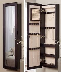 furniture decorating beautiful wall mounted jewelry armoire