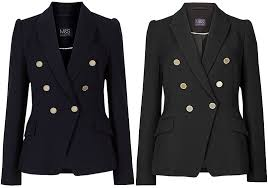 m s collection gold on blazer jacket in black and navy balmain dupes