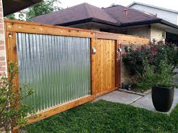 fence wood and corrugated metal wrought iron vs aluminum cost how to build a privacy fen
