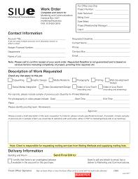 Job Work Order Templates At Allbusinesstemplates Com