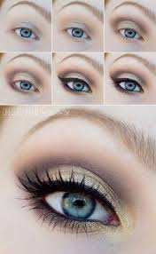 cute makeup for blue eyes and blonde