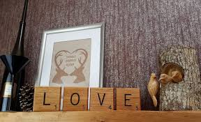 Scrabble Letter Wall Decor Giant Novelty Solid Oak Scrabble Letters Wall Art Bramble Signs