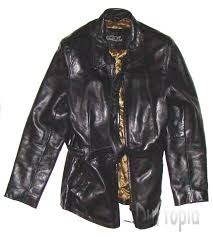 collezione black leather zippered jacket size m