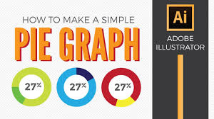 How To Make A Simple Pie Graph In Adobe Illustrator Graphic Design How To