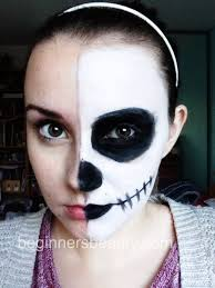 half skull face by beginnersbeauty