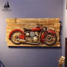 get ations american vintage wrought iron motorcycle creative restaurant bar cafe decorative wall hangings wall decorations hanging wall