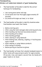 Food Handlers Test Answers Food Safety Your Self Training Manual Oregon Health Authority