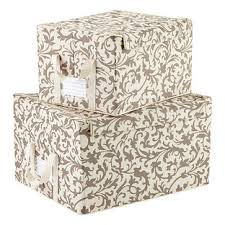 Decorative Fabric Storage Boxes reisenthel Baroque Latte Fabric Storage Boxes The Container Store 67
