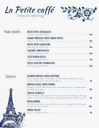 Cafe Menu Template Modern Minimalist French Cafe Menu Template And Background