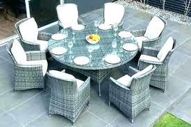 round wicker patio set outdoor dining settings sets for 8 table setting ideas wic