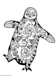 Small Picture Penguin Doodle Coloring Pages 1111