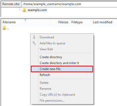 How To Create A Directory Creating And Editing A File Via Ftp Dreamhost