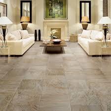 tile flooring living room. Brilliant Flooring Elegant Living Room Interior Design White Sofa Set Table Lamps Porcelain Tile  Flooring In T