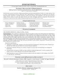 Regular Payroll Resume Samples Cover Letter Payroll Resume Sample