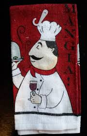 italian chef kitchen towel fat chef towel mangia red wine new