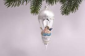 Antik Style Kleiner Ballon Mit Engel In Blau Mit Leonischem Draht Umsponnen Ca H 15cm X B 5cm