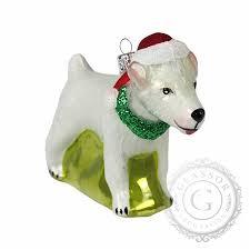 Weißer Jack Russell Terrier Mit Weihnachtsmütze Decor By