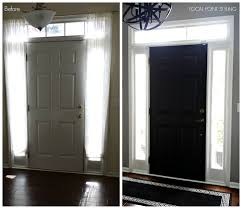 lovely ideas painting inside of front door focal point styling how to paint interior doors black