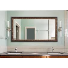 traditional cameo bronze double vanity wall mirror