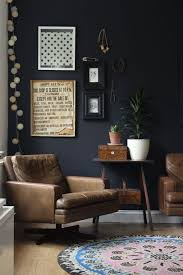 brown and black living room ideas. Black Feature Wall In The Living Room - Looks Great With Vintage Furniture And Details | Growing Spaces Brown Ideas B