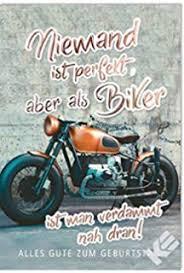 Motorrad Karte Grußkarte Geburtstag Oldtimer Lass Es Krachen 11x17cm