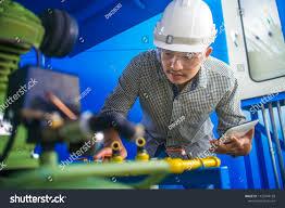 Industrial Engineers Working Factory Industrial Engineers Stock