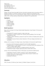 Resume Templates: Community Health Worker