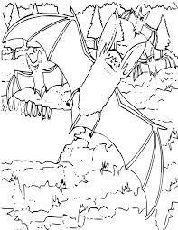 Small Picture Big Eared Bat Coloring Page for Kids Free Printable Picture
