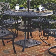 48 inch round black metal outdoor patio