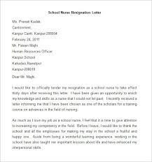 resignation letter template      free word  pdf documents    sample school nurse resignation letter