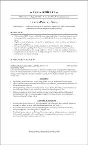 Lpn Resume Experience Pelosleclaire Com